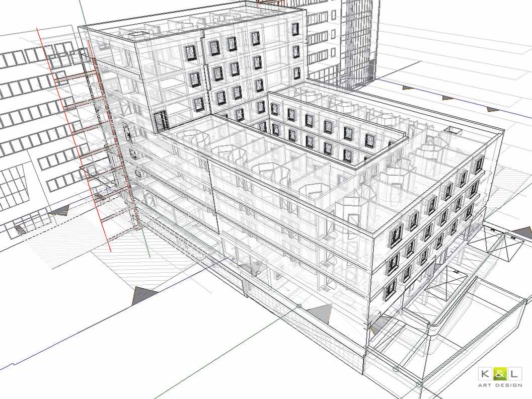 projekt architektoniczny 3D BIM wykonany w pracowni K%L